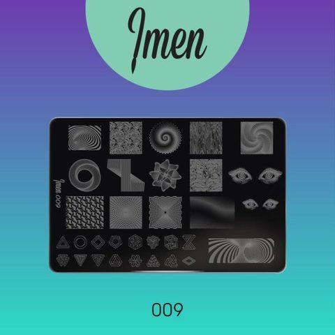 Пластина Imen для стемпинга #009