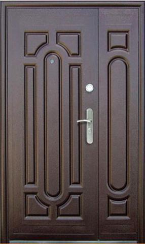 Дверь входная СС 220/S1200 стальная, молоток крупный, 2 замка, фабрика Сибирский Стандарт