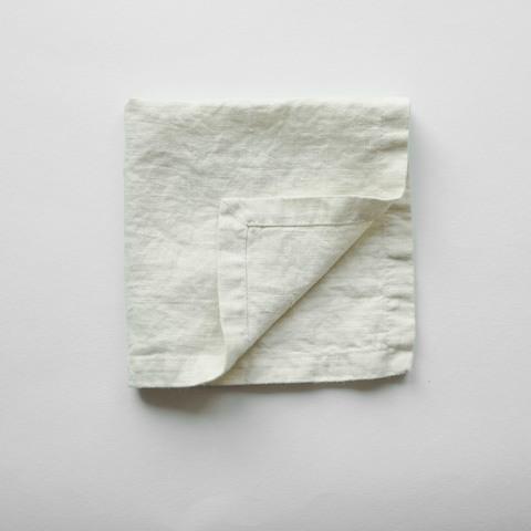 Салфетки из умягченного льна /слоновая кость