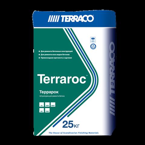Terraco Terraroc HBR/Террако Террарок HBR толстослойная ремонтная штукатурка для бетона, армированная волокном