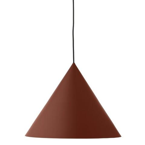 Лампа подвесная Benjamin XL, темно-красная матовая, черный шнур