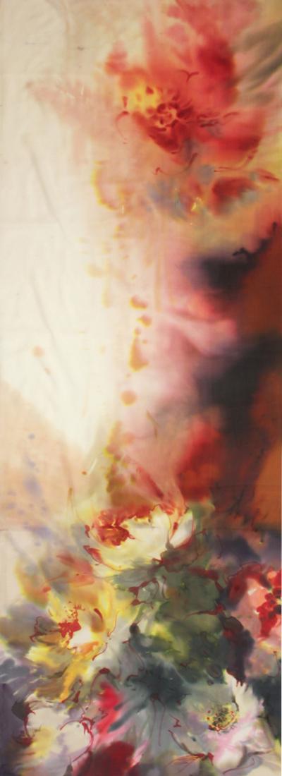 Шелковый палантин батик