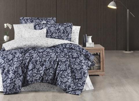 Комплект постельного белья Тенсель жаккард DO&CO EXCLUSIVE 250TC LISHA 2 спальный (Евро) цвет синий