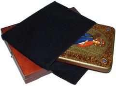 Инкрустированная икона Святая великомученица Екатерина 29х21см на натуральном дереве в подарочной коробке