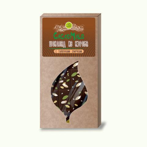СacaoMalo шоколад из кэроба необжаренного с тыквенными семечками 85 г
