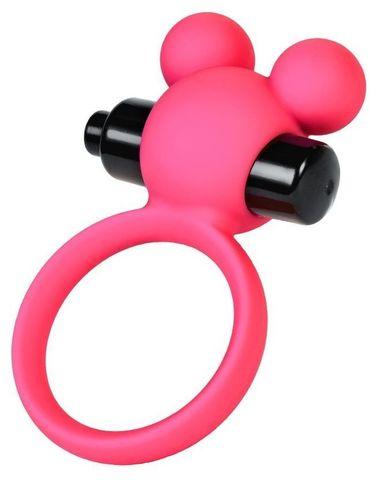 Розовое виброкольцо на пенис A-Toys