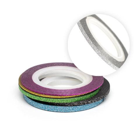 Нить на клеевой основе (серебро) для дизайна ногтей