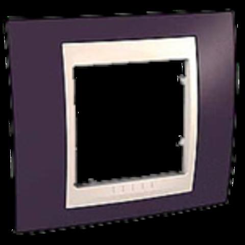 Рамка на 1 пост. Цвет Гранат/Бежевый. Schneider electric Unica Хамелеон. MGU6.002.572