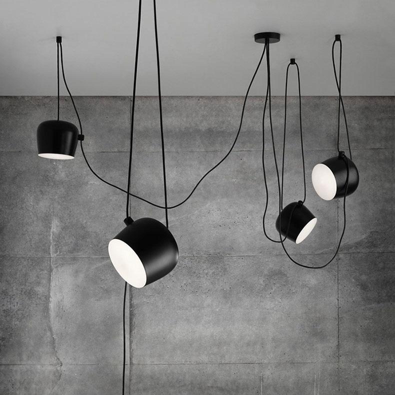 Подвесной светильник копия AIM by Flos (4 плафона, черный)