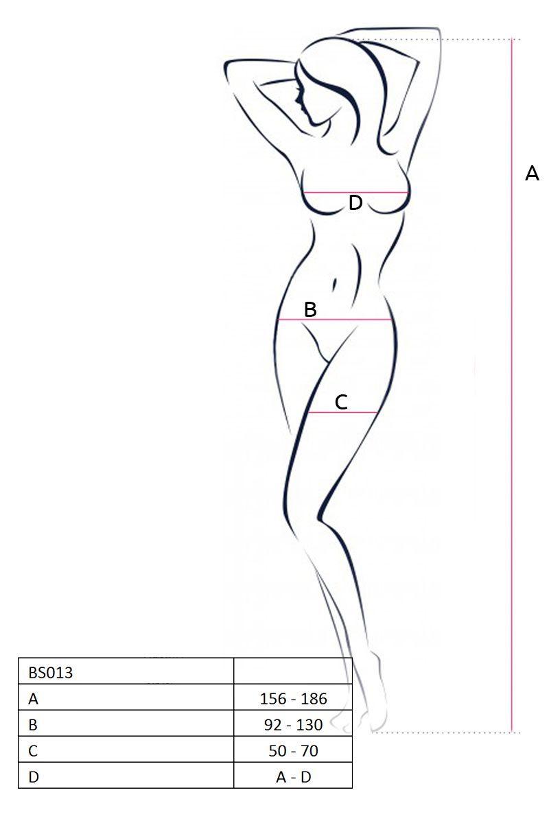 Комбинезон-чулок с открытыми бёдрами и имитацией шнуровки на животике