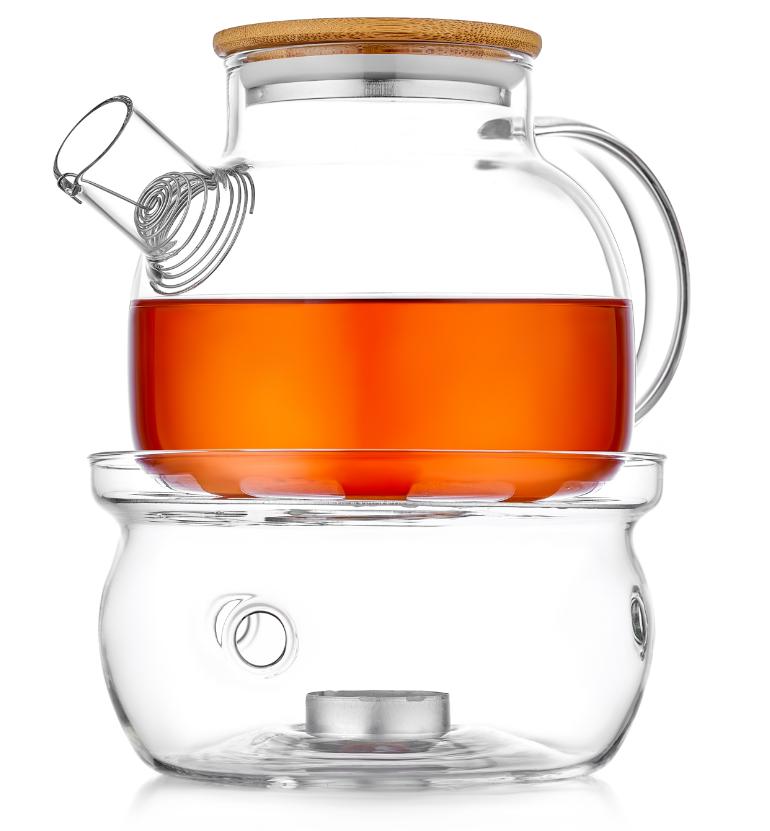 Заварочные стеклянные чайники Заварочный чайник с подогревом свечой 129315.PNG