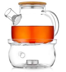 Заварочный чайник с подогревом свечой