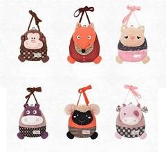Bag Purse Plush For Girls Kids Set 4