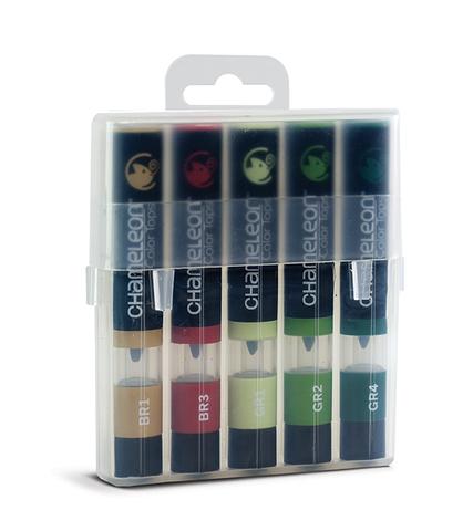 Набор цветовых блендеров Chameleon Color Tones Nature Tones, природные тона, 5 шт.
