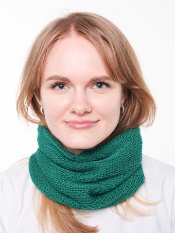 Зеленый шарф-воротник