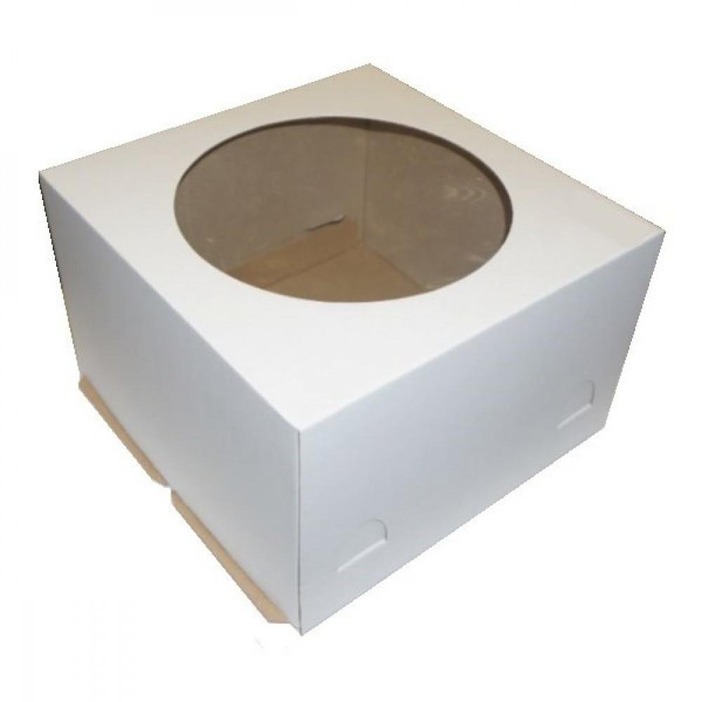 Коробка для торта с окном (300х300х450 мм)