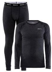 Комплект термобелья мужской Craft Core Wool Merino, black melange