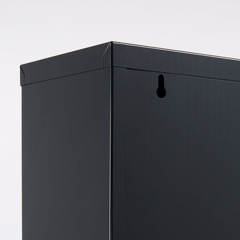 Полка для обуви Rox 4 двери металлическая графит