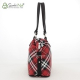 Сумка Саломея 490 шотландский красный + черный