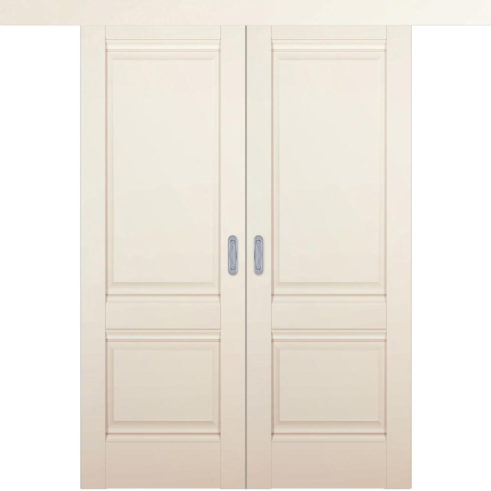 Двустворчатые раздвижные двери Межкомнатная двустворчатая дверь купе экошпон Profil Doors 1U магнолия сатинат глухая 1u-magnolia-dvertsovkd.jpg