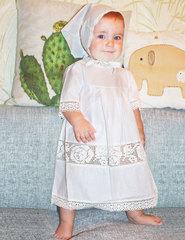 Папитто. Крестильный набор для девочки с кремовым кружевом