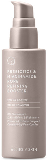 Allies of Skin Prebiotics & Niacinamide Pore Refining Booster антиоксидантная сыворотка 50мл