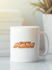 Кружка с рисунком KTM (KTM AG) белая 007