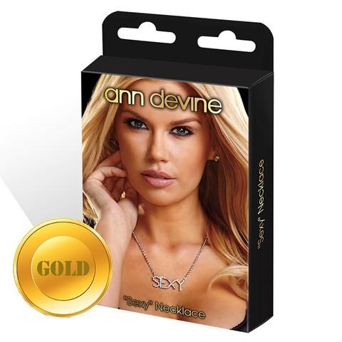 Цепочка с подвеской SEXY (GOLD)