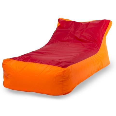 Пуффбери Внешний чехол Кресло-мешок кушетка  70x130x70, Оксфорд Оранжевый и красный