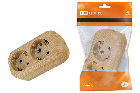 Колодка розеточная 2 гнезда 2П+З 16А 250В
