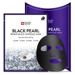 SNP Тканевые маски с экстрактом черного жемчуга SNP Black Pearl Renew Black Ampoule Mask 10 шт.