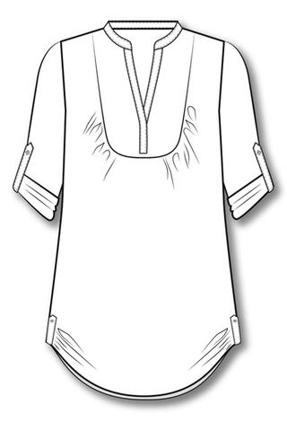 Выкройка туники - рубашки