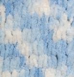 Пряжа Alize Puffy Color бело-голубой 5865