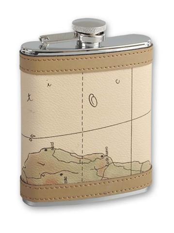 Итальянская фляга S.Quire «Карта»,  270 мл