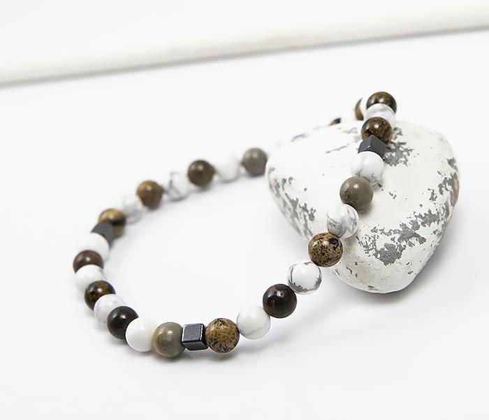 BS823 Ярий мужской браслет из разных натуральных камней фото 07