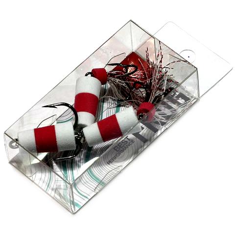 Приманка джиг. FROG, 7 см, цвет бел./красн./бел., арт. FB3001546