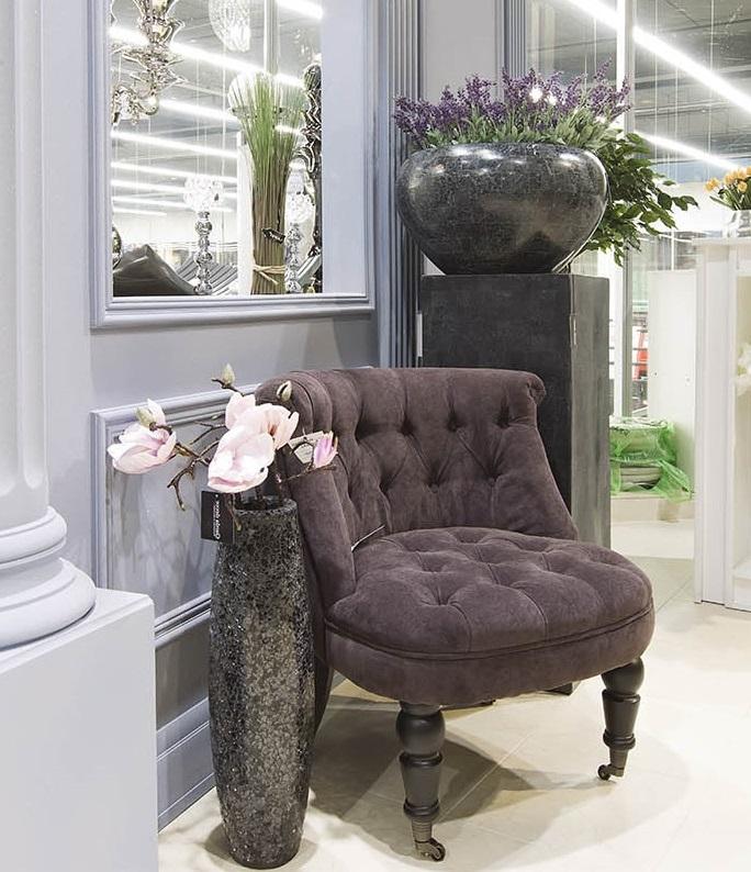 Кресло для гостиной низкое фиолетовое (PJC742-PJ843) Garda Decor
