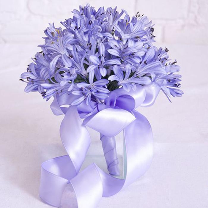 Букет невесты Пермь синий голубой васильковый агапантус