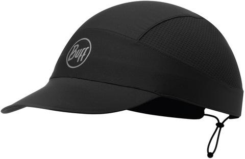 Спортивная кепка для бега Buff Pack Run Cap R-Solid Black фото 1