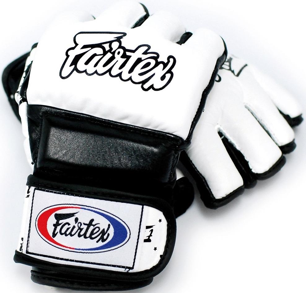 ММА перчатки Перчатки MMA Fairtex Sparring Gloves FGV17 White/Black 1.jpg