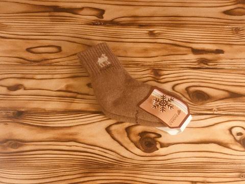 Носки детские из верблюжьей шерсти (темно-коричневые) р.4 фото1