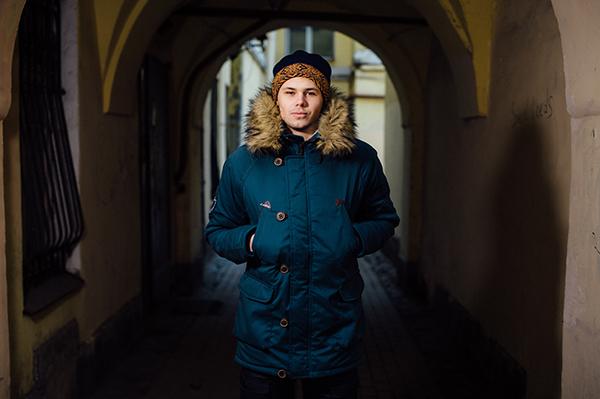 Шапка Варгградъ мужская синий/оранжевый