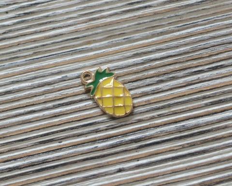 Подвеская эмалевая 1,5см,ананас