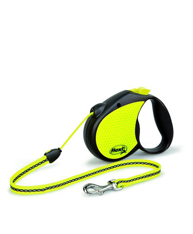 Flexi поводок-рулетка Neon New Classic S (до 12 кг) трос 5м (лимонный)