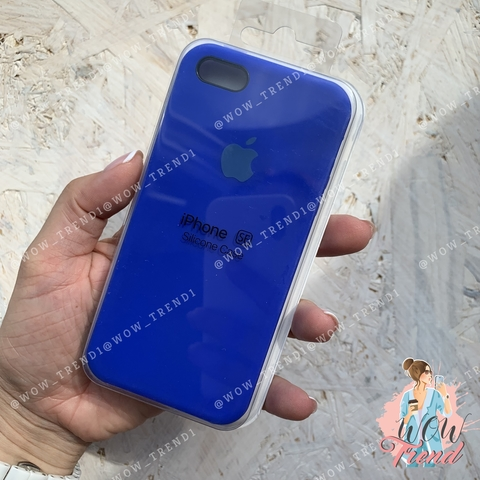Чехол iPhone 5/5s/SE Silicone Case /ultramarine/ ультрамарин 1:1