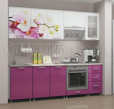 Кухня Орхидея сиреневая