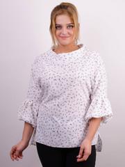 Міла. Стильна блуза великих розмірів. Абстракція.