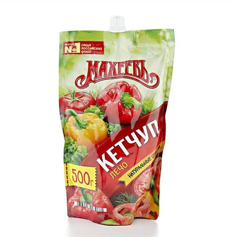 Кетчуп МАХЕЕВЪ Лечо 500 г пл РОССИЯ