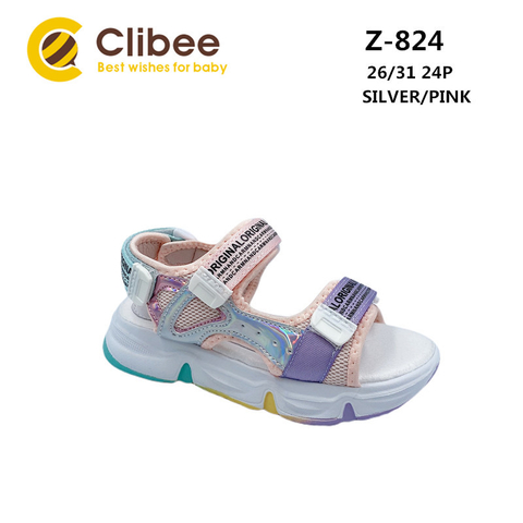 Clibee Z824 Silver/Pink 26-31