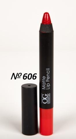 OG-FP3011B Помада-карандаш тон 606 красный классик МАТОВАЯ Matte Lip Pencil PRO